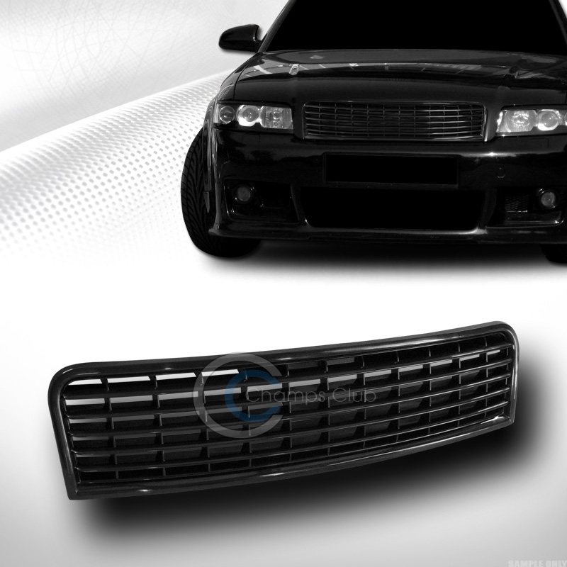 2005 Audi S4 2005 5 Camshaft: EURO BLACK HORIZONTAL FRONT HOOD BUMPER GRILL GRILLE ABS