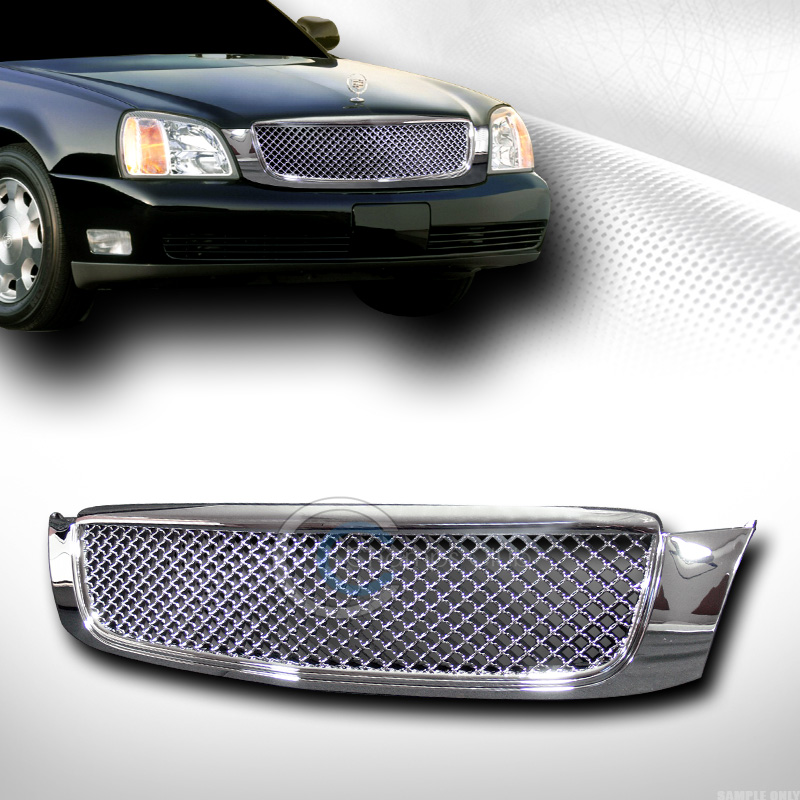 Chrome Luxury Mesh Front Hood Bumper Grill Grille 2000