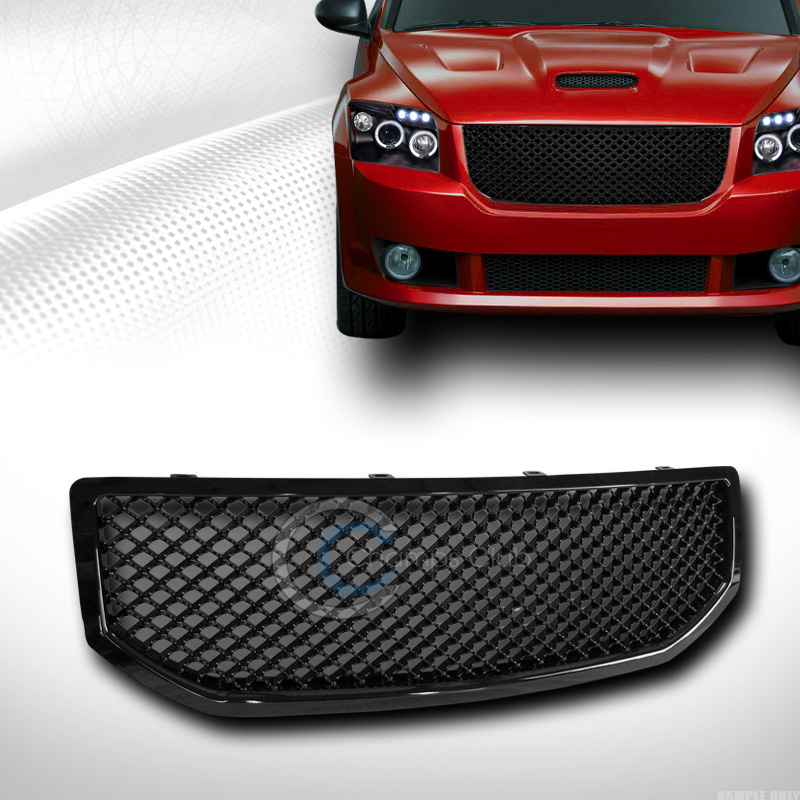Black Sport Mesh Front Hood Bumper Grill Grille Cover Abs