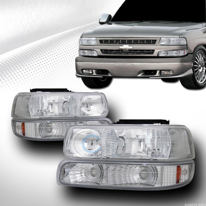 chrome lights bumper signal lamps am dy 1999 2006 silverado tahoe suburban ebay