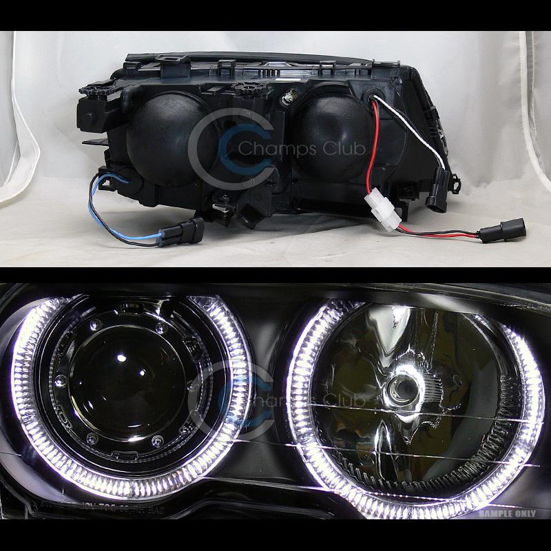 Bmw Xenon Headlights: 6K HID XENON BLK HALO PROJECTOR HEADLIGHTS LAMPS 1999/2000