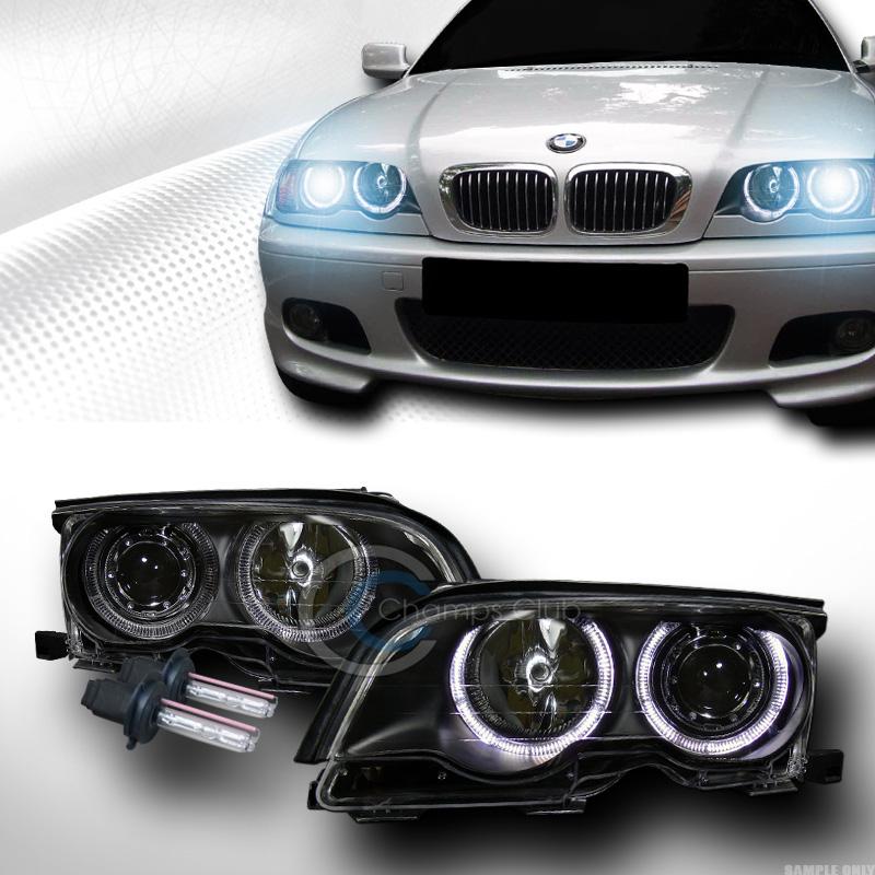 Bmw Xenon Headlights: 8K HID XENON BLK HALO PROJECTOR HEADLIGHTS LAMPS 1999/2000