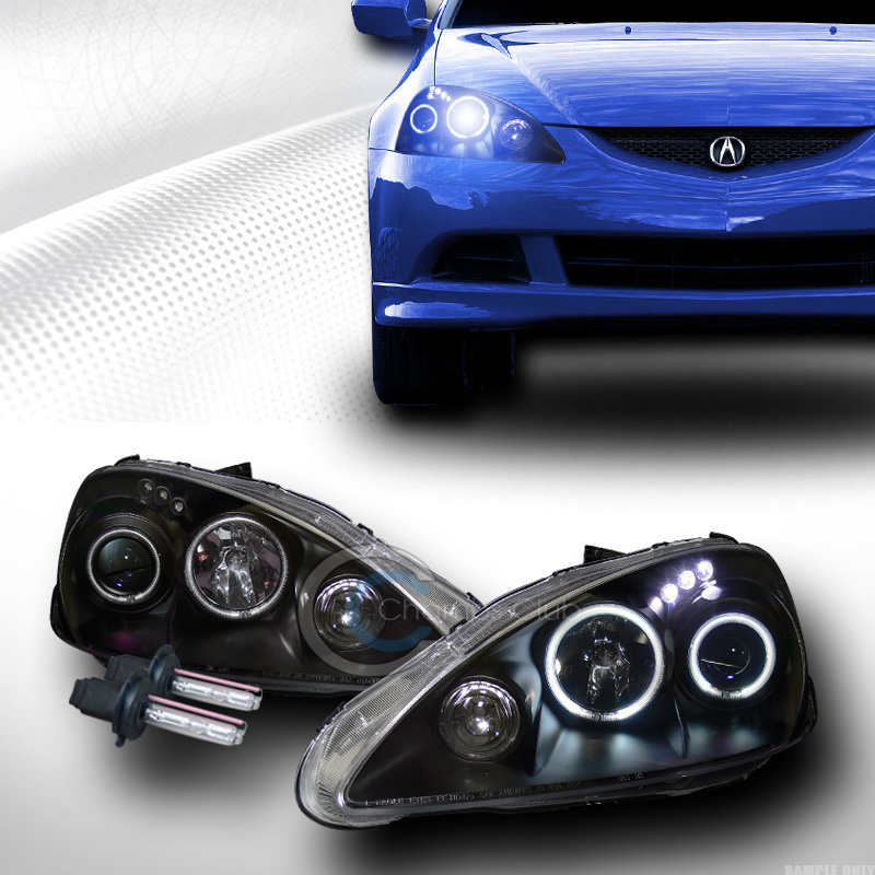 8k Hid Xenon Black Ccfl Halo Led Projector Headlights 2005
