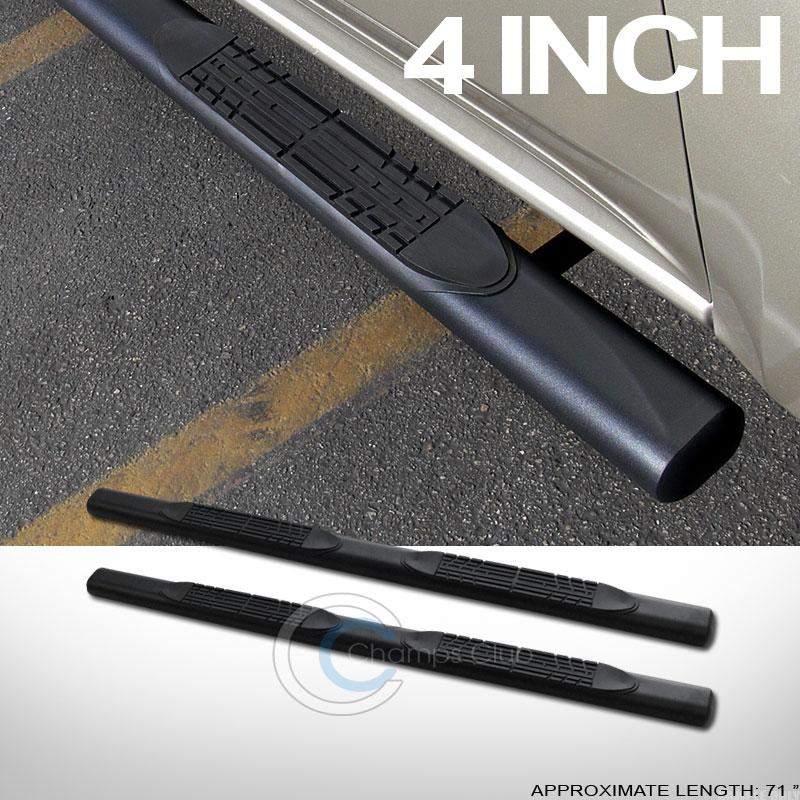 4 matte blk oval side step nerf bars running boards 05 11. Black Bedroom Furniture Sets. Home Design Ideas