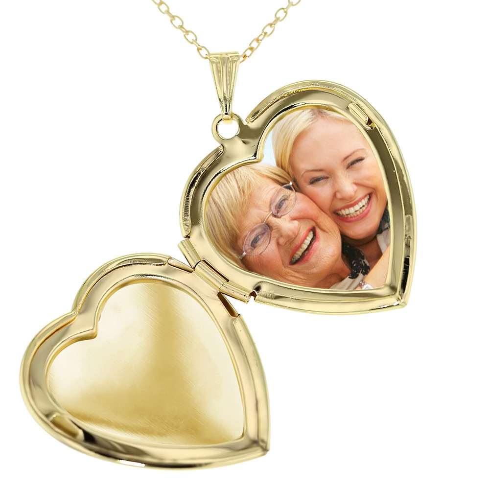 Grandmother locket necklace pendant heart love photo for Grandmother jewelry you can add to