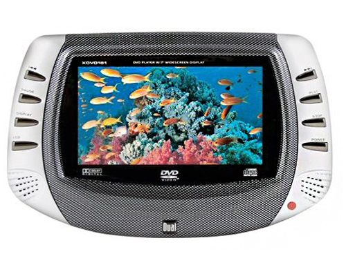 Dual Portable Car DVD CD Player with 7 LCD Widescreen