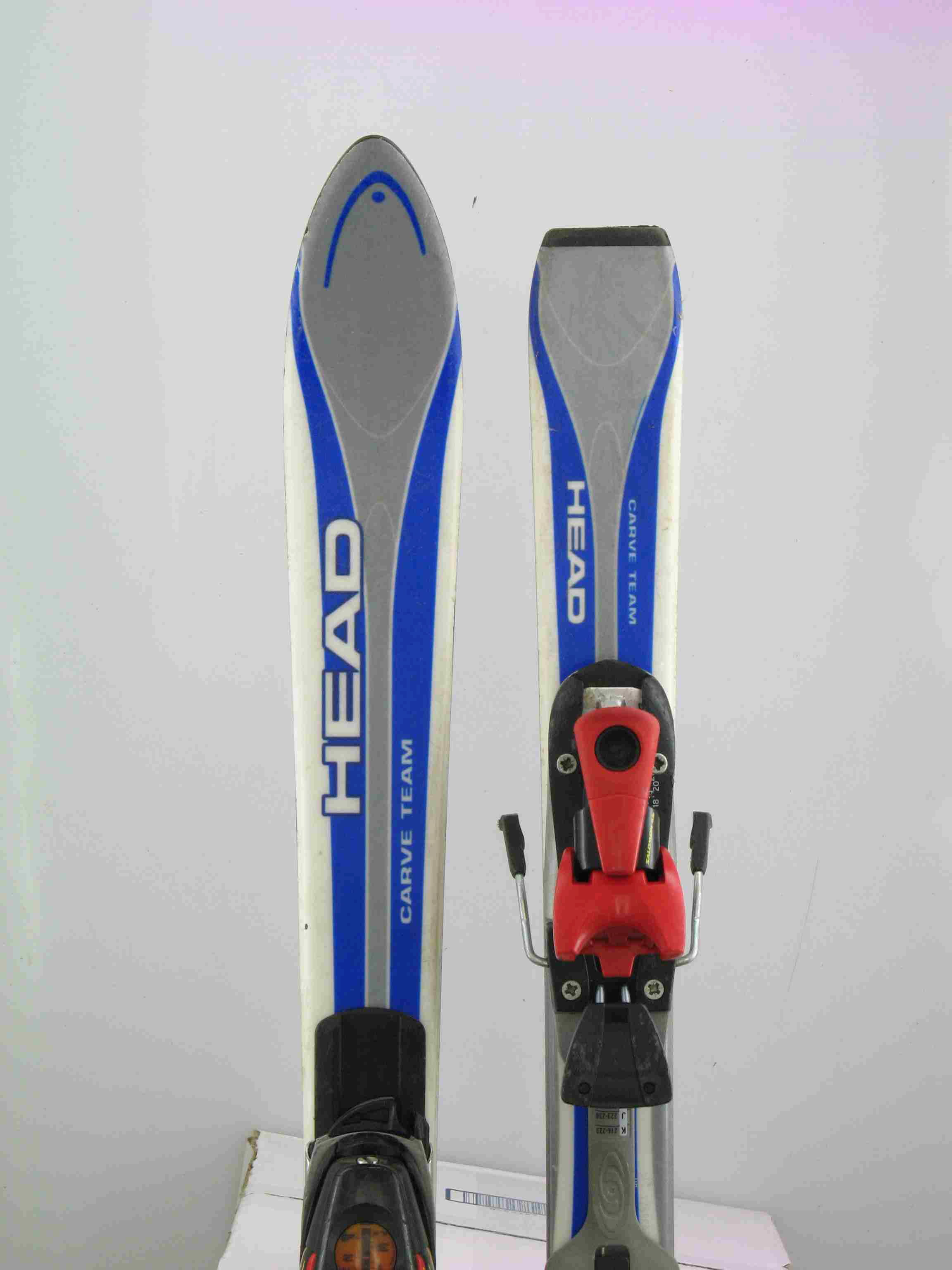 Used head carve kids snow skis w binding cm ebay