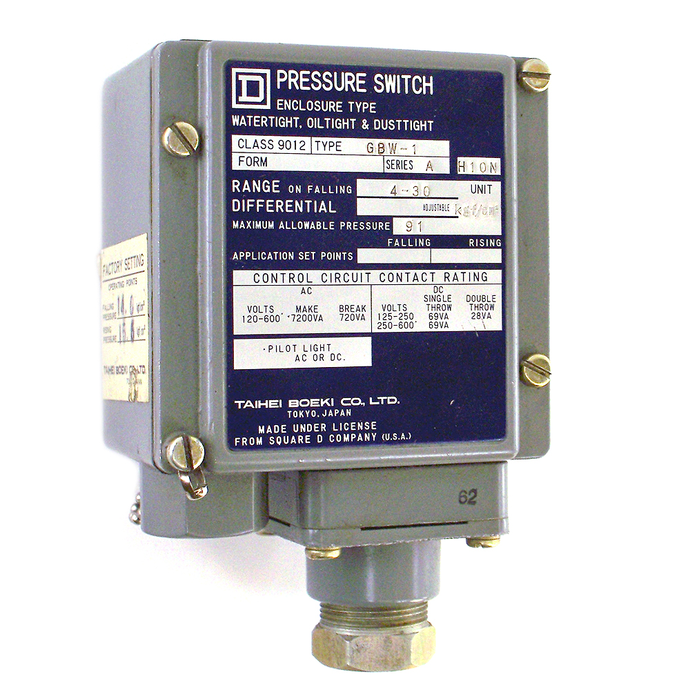 Square D Pressure Switch Manual