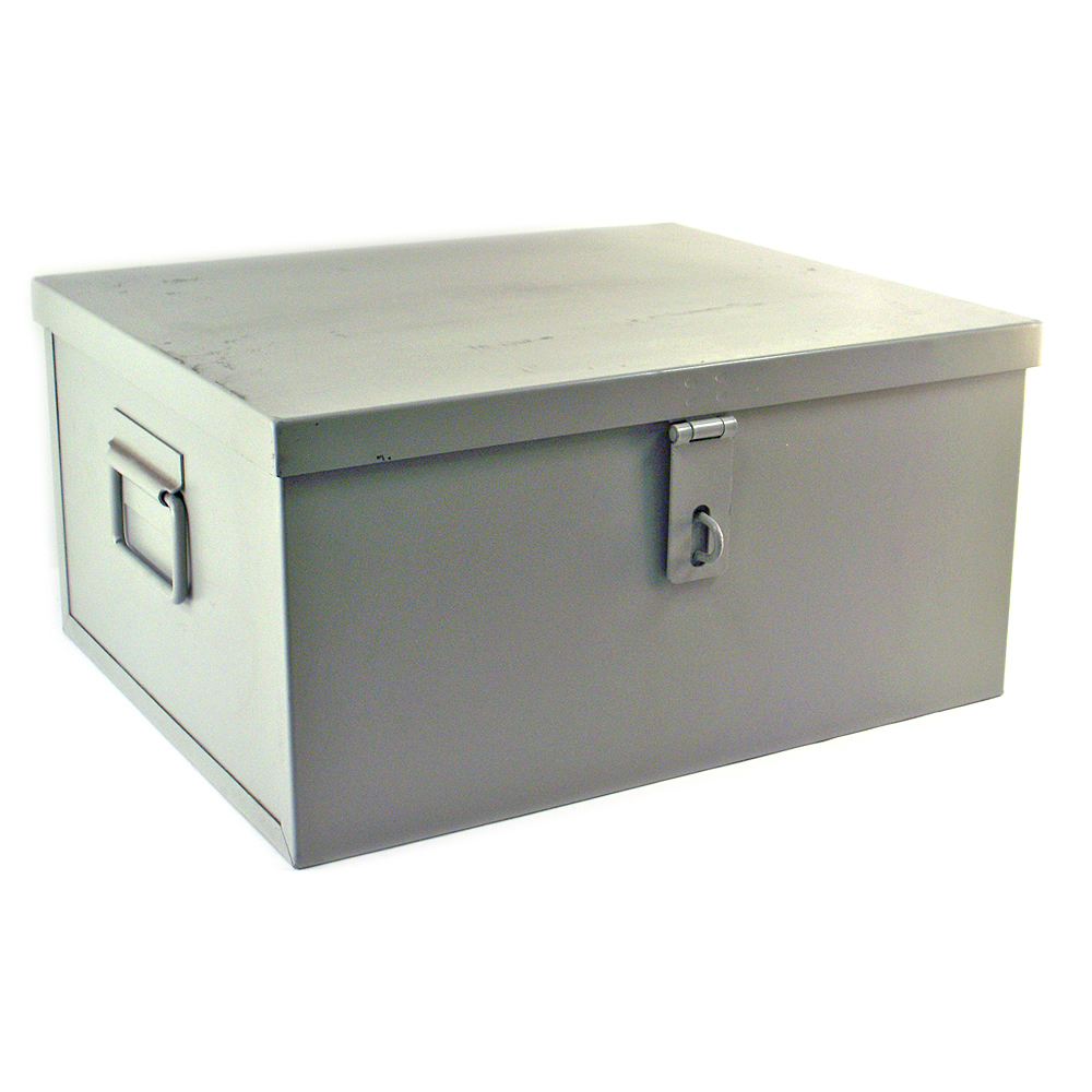 Metal storage boxes with hinged lids quotes