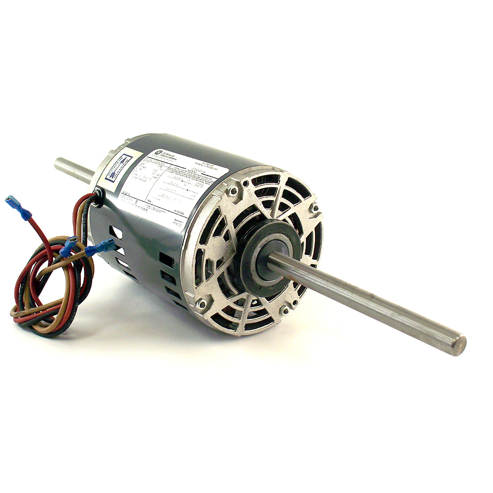 Ge motors dual shaft thermally protected a c motor model for Double ended shaft electric motor