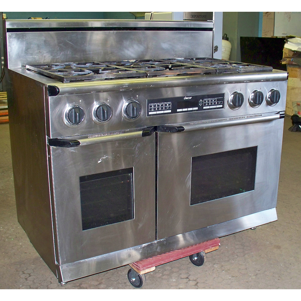 Dacor epicure series 48 stainless steel dual fuel gas for Dacor 48 range