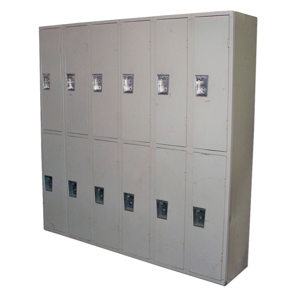 Lockers school gym sports center 2 tier republic storage for 12 door lockers