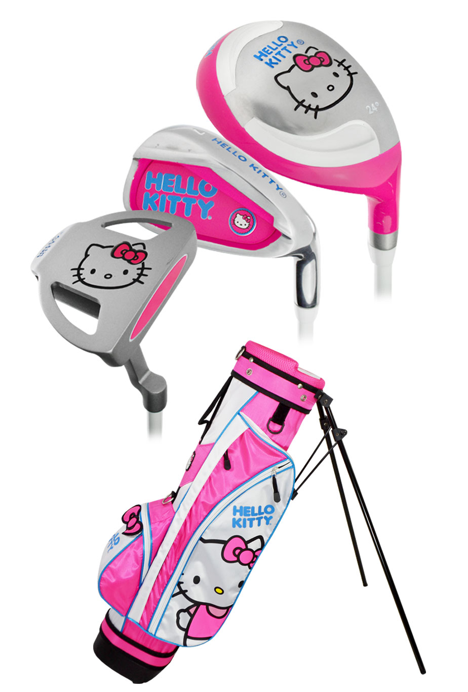 Hello Kitty Golf 2016 Junior 5-Piece Set W\/Bag Ages 3-5