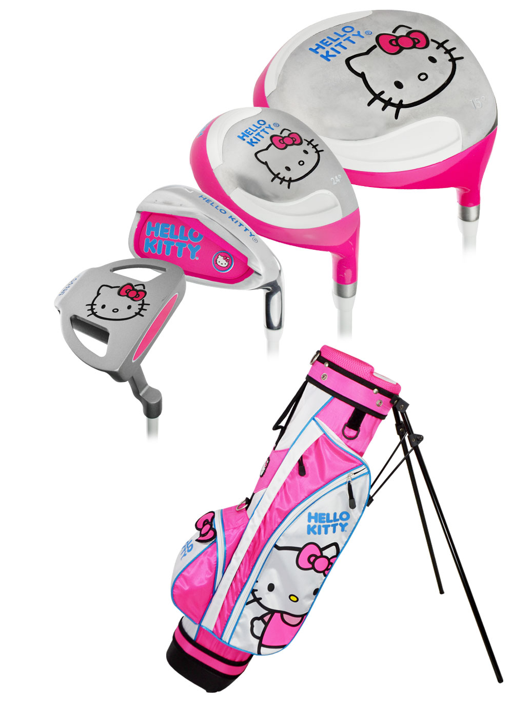 Hello Kitty Golf 2016 Junior 9-Piece Set W\/Bag Ages 9-12