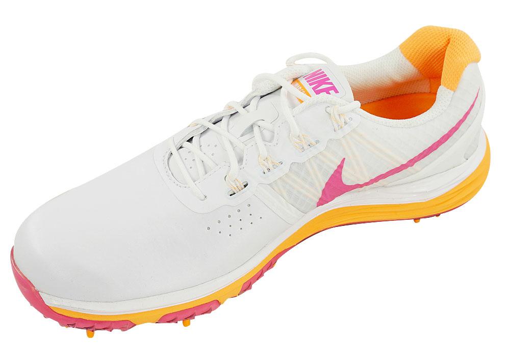 new nike golf lunar golf shoes white pink