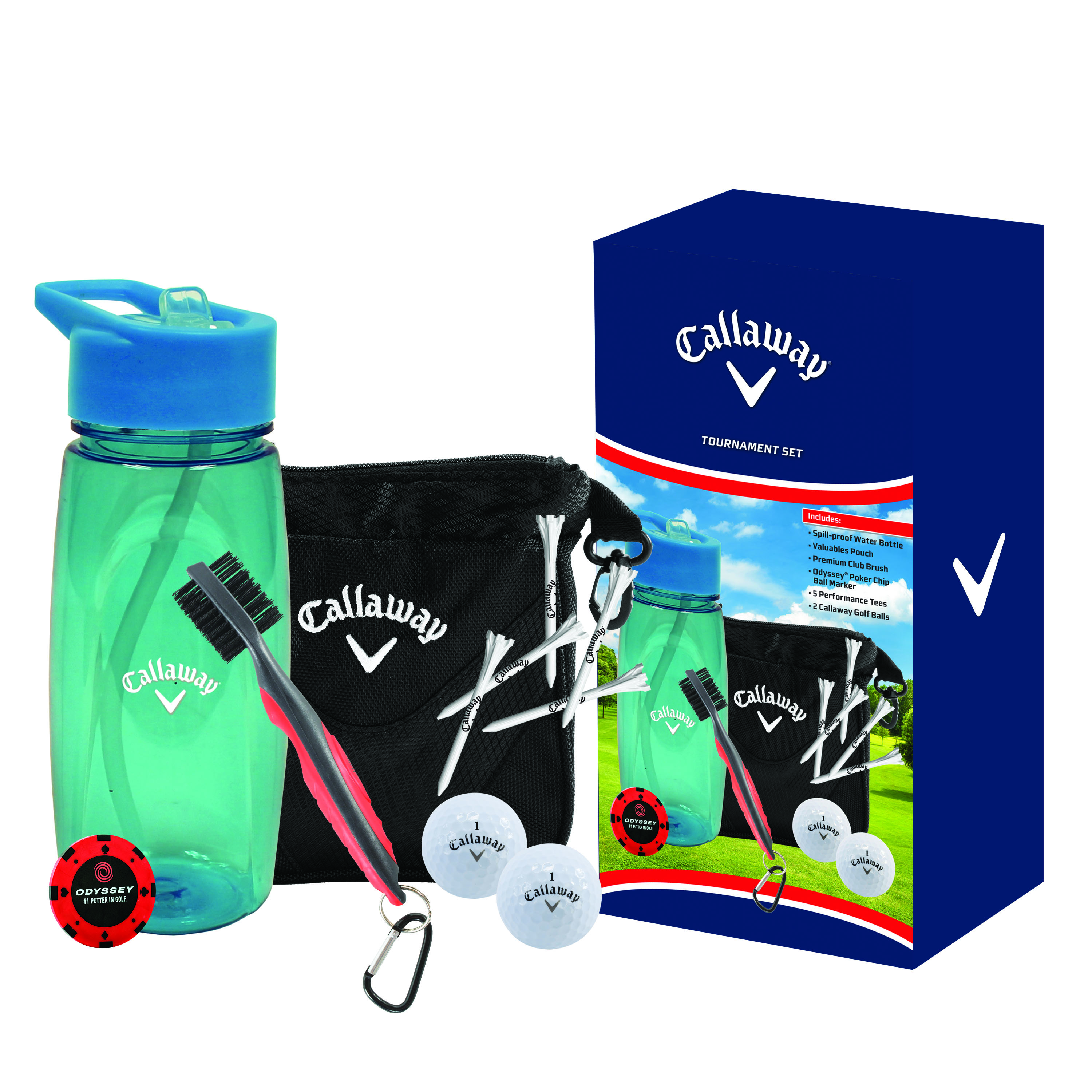 Starter Gift Set by Callaway Golf The Callaway Starter Set is a great gift for any avid golfer and will serve as the perfect tee prize for any charity golf outing or event. The Starter Set includes a variety of useful and popular on-course golf.