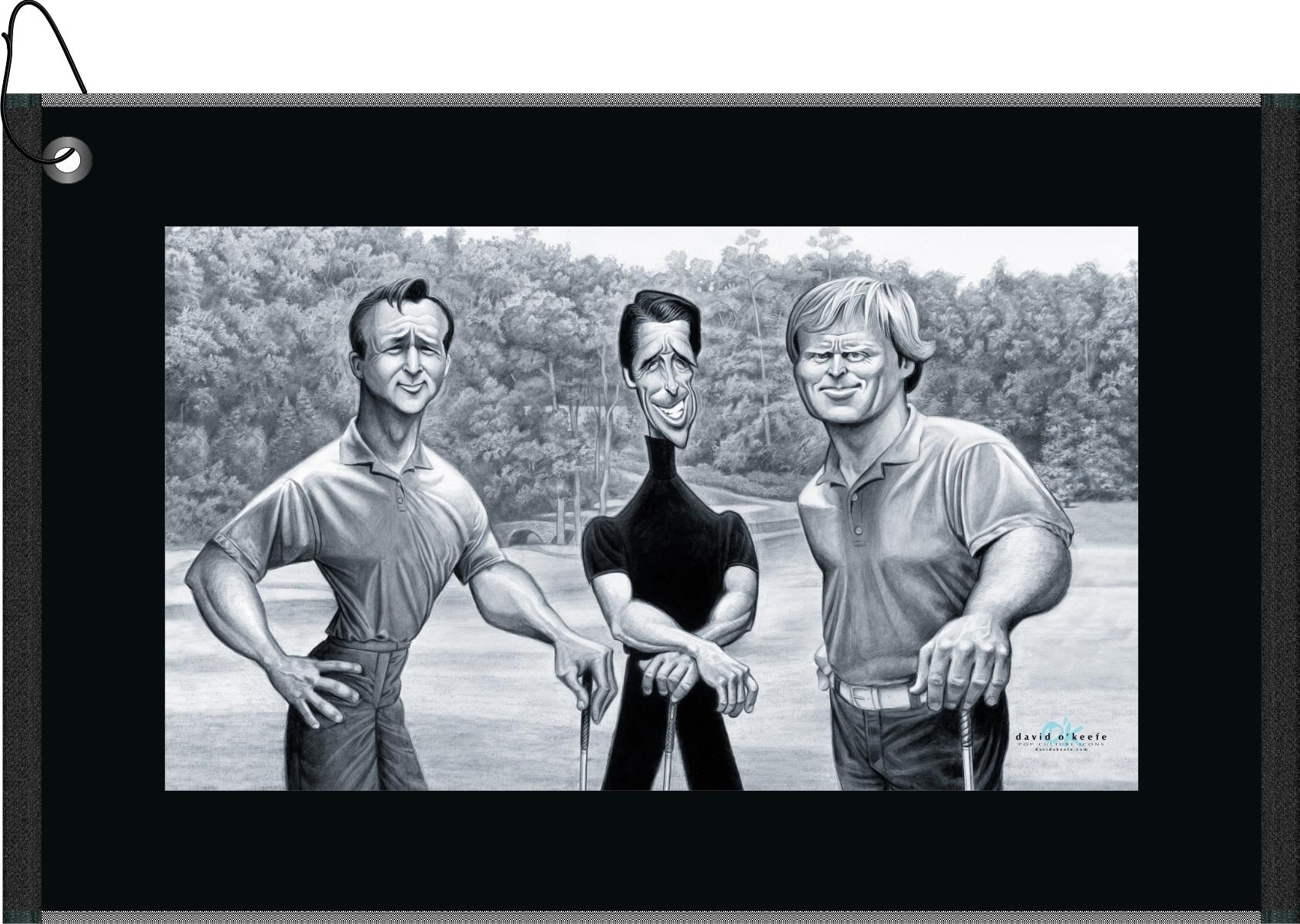 Devant Big Three Golf Towel | RockBottomGolf.com on golf coasters, golf sunglasses, golf cups, golf bedding, golf clothing, golf dishes, golf uniforms, golf food, golf hats, golf paper, golf license plate frames, golf accessories, golf games,