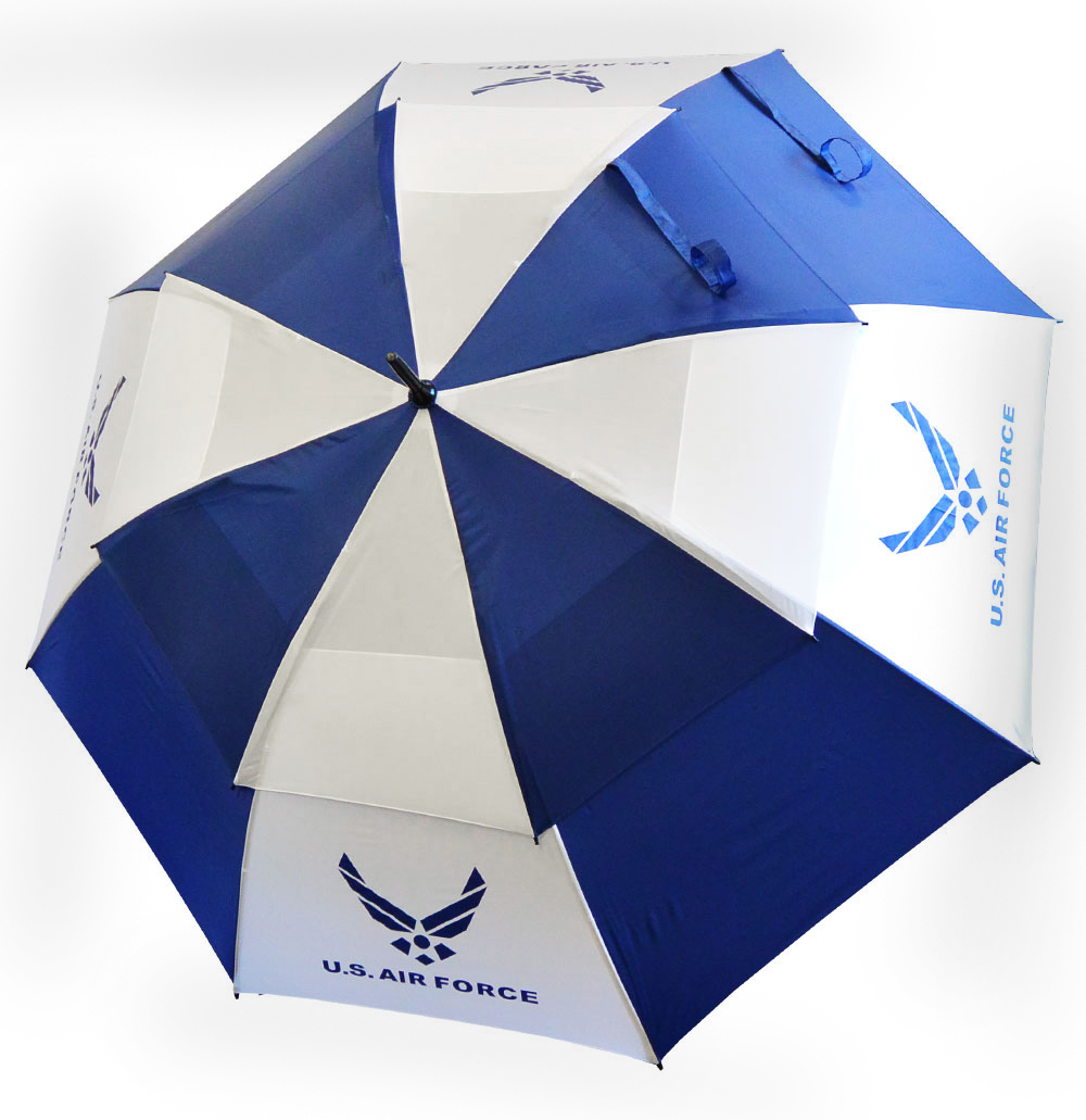 """Hot-Z Golf US Military 62"""" Double Canopy Umbrella Air Force"""