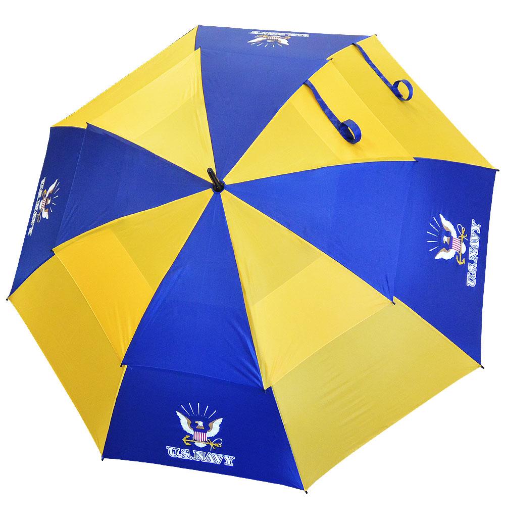 "Hot-Z Golf US Military 62"" Double Canopy Umbrella Navy"