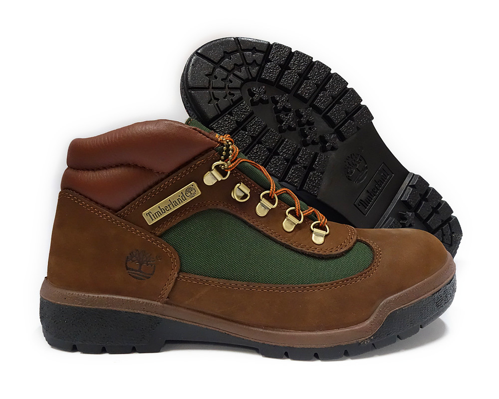 tb010025 timberland brown green field boot mens size 8