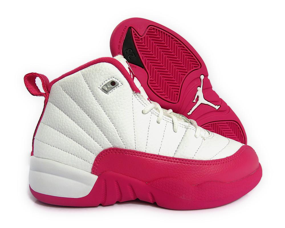 jordan preschool sizes 510816 109 12 retro white pink silver 891