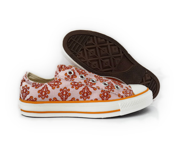All-Star-Converse-CT-Mosaic-Slip-Pink-Orange-White-Womens-Slip-Ons-Size-6