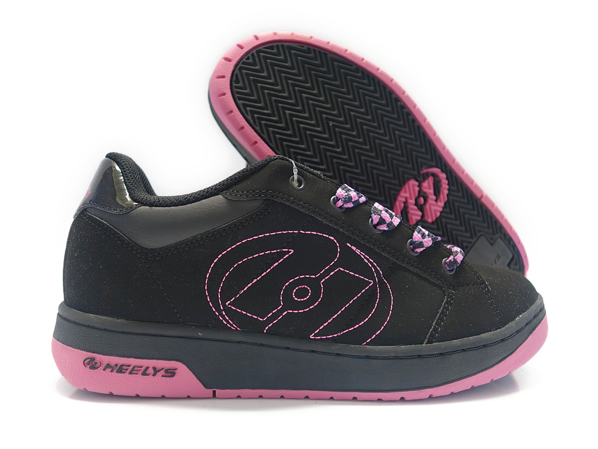 7144 heelys bliss 2 black pink skate shoes womens sz 1