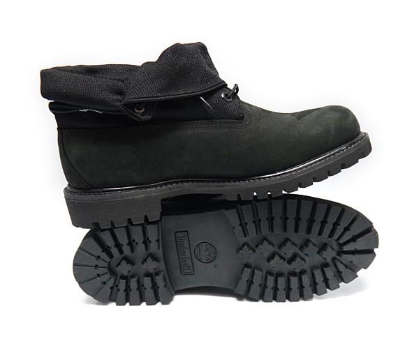timberland af roll top black mens boots size 8 5 ebay