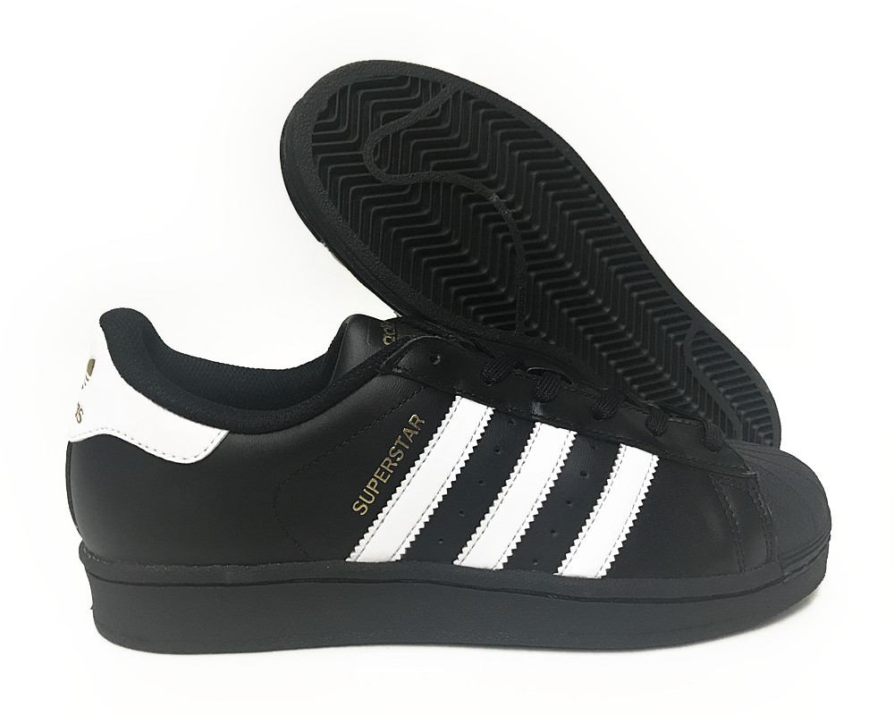 ... image is loading b39397 adidas superstar black white gold sneakers sz