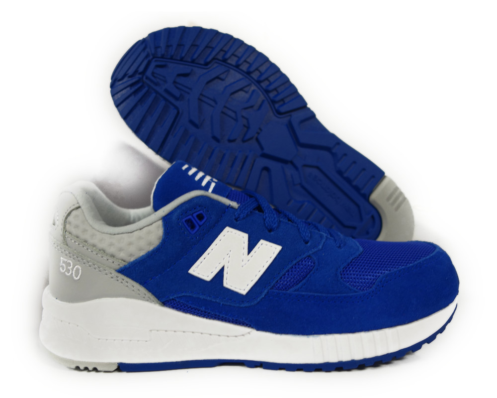 [KL530-4BG] NEW BALANCE BLUE GREY GRADE SCHOOL KIDS SNEAKERS Sz 6