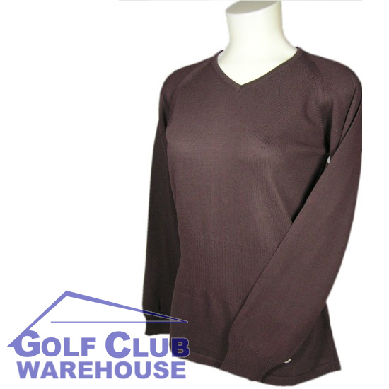 Cleveland Golf V-Neck Jumper Cappiccino Ladies 10 Small