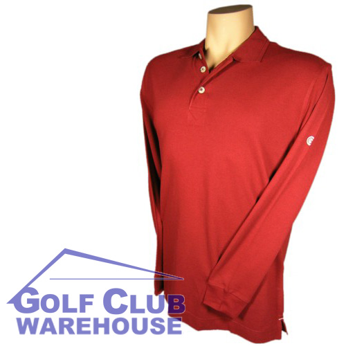 Cleveland Golf Long Sleeve Polo Shirt Red Small NWT