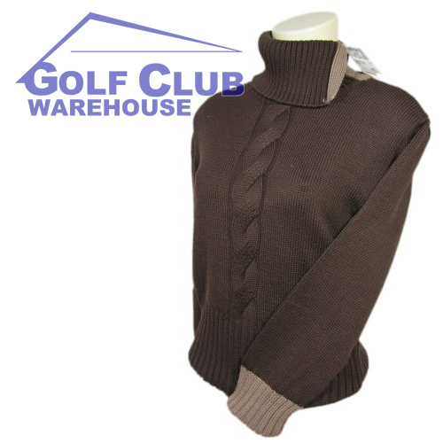 Cleveland Golf Turtleneck Cable Sweater Ladies S Jumper