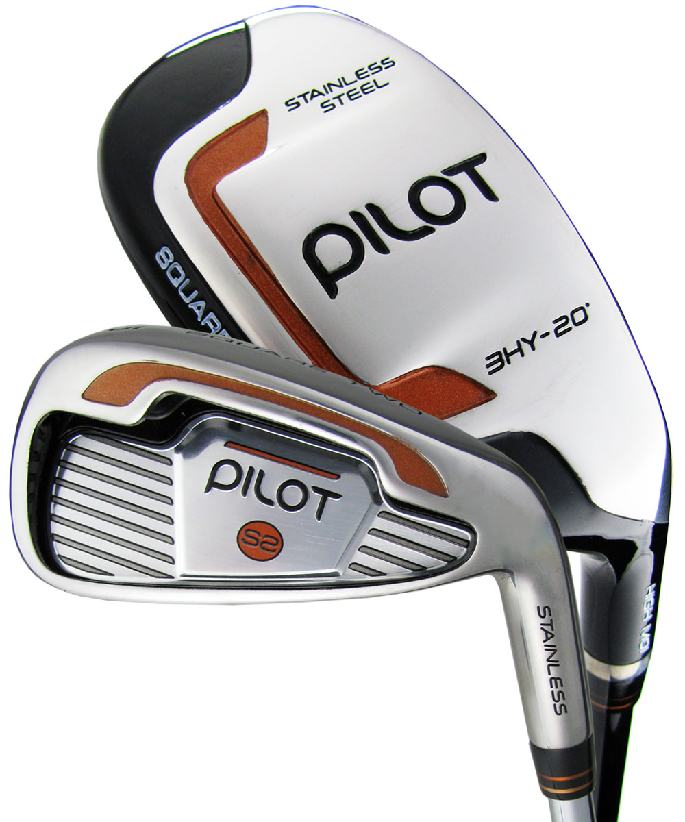 Square Two Pilot 3-PW Hybrid Irons Graphite/Steel