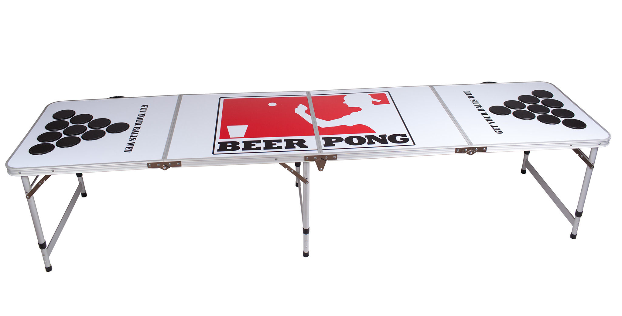 New 8 foot professional beer pong table aluminum party games cup holes 4 ebay - Professional beer pong table ...