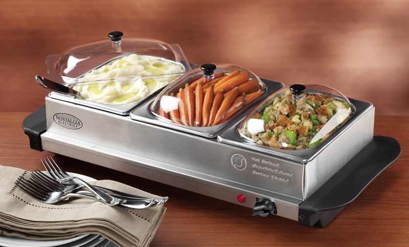 Food Warmers Buffet ~ Nostalgia station buffet server food warmer warming t ebay