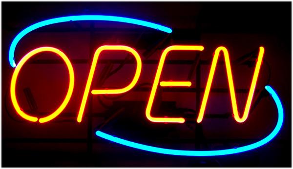 neon open sign light big open signs restaraunt business bar. Black Bedroom Furniture Sets. Home Design Ideas