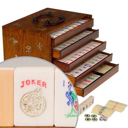 vintage mahjong set