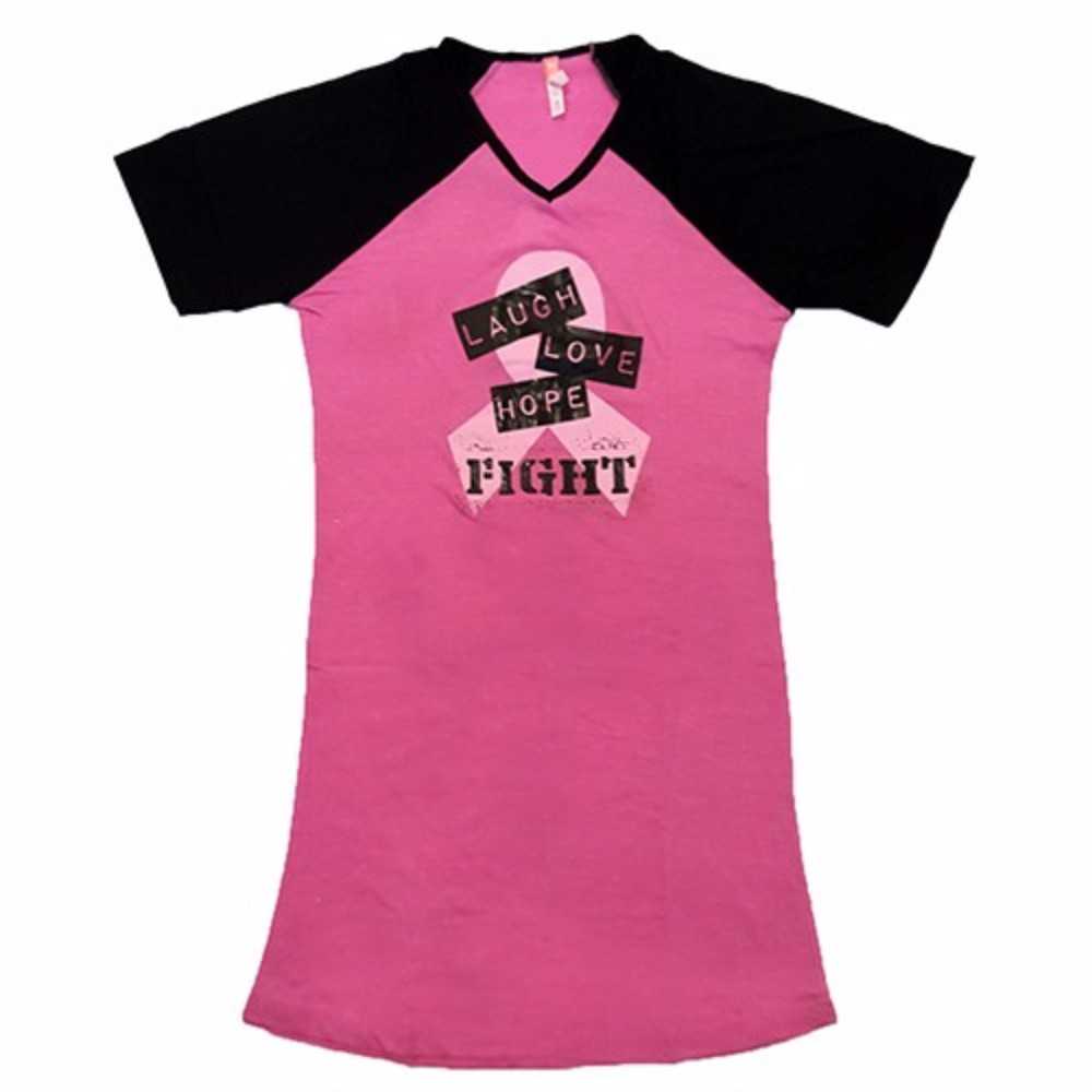 breast cancer awareness nightshirt in 4 styles