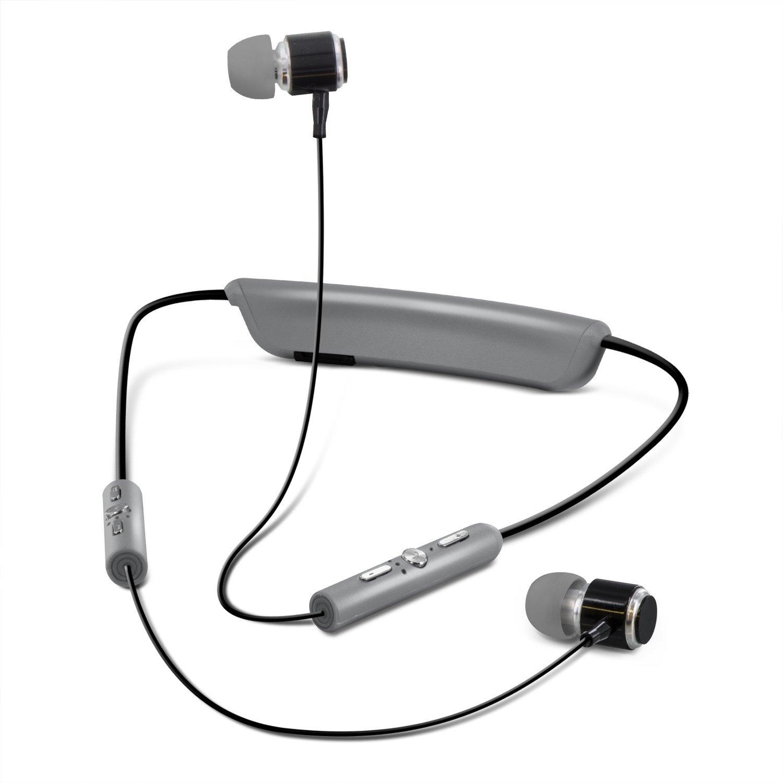 amplify bluetooth wireless sweatproof sport headphones w 2k mah power bank ebay. Black Bedroom Furniture Sets. Home Design Ideas