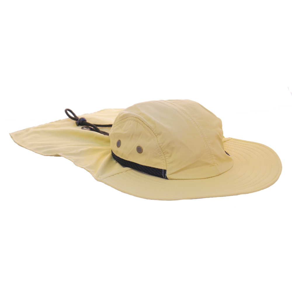 Mesh outdoor fishing hat with neck flap ebay for Mesh fishing hats