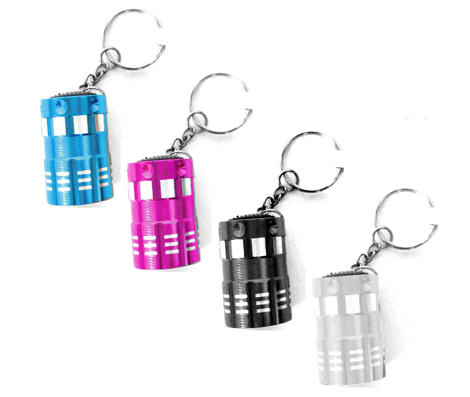 Vibe-1-Pack-Assorted-Ultra-Bright-9LED-Mini-Aluminum-Keychain-Flashlight