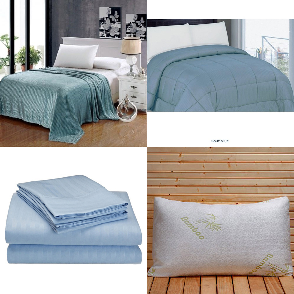 Queen Size Mattress Bag: 8 Piece Bed In A Bag Comforter Set With Pillows