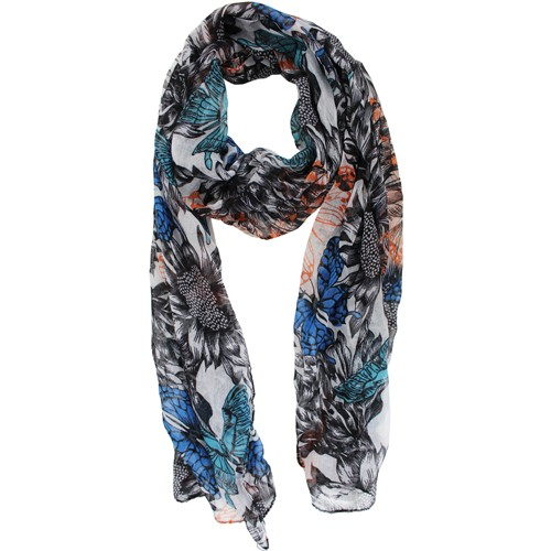 chatties sheer infinity fashion scarf in black