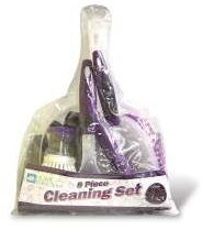 Home-Collections-8-Piece-Cleaning-Set-In-PVC-Bag-Choice-of-2-Colors
