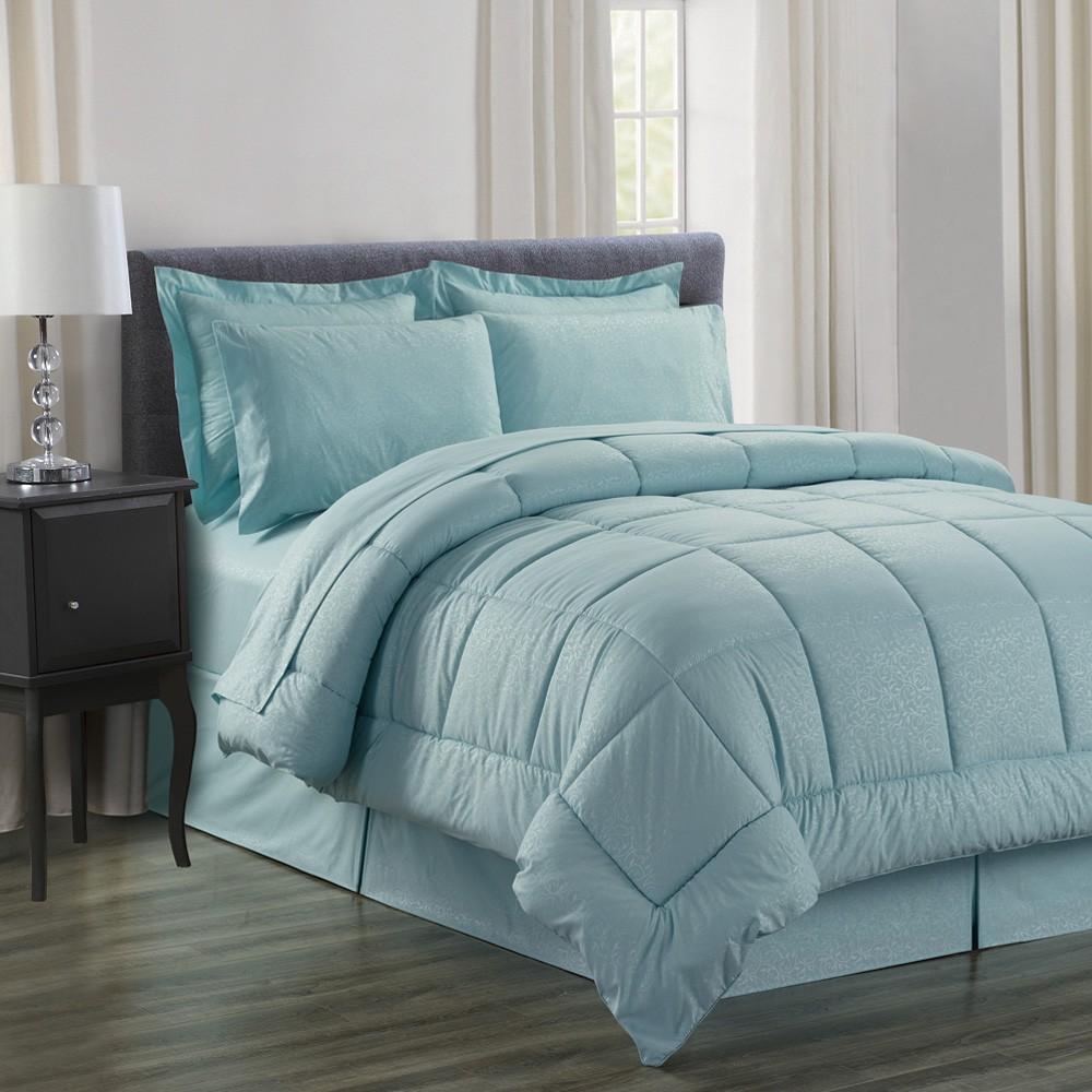 8 Piece Vine Ultra Soft Bed In A Bag Comforter Set In
