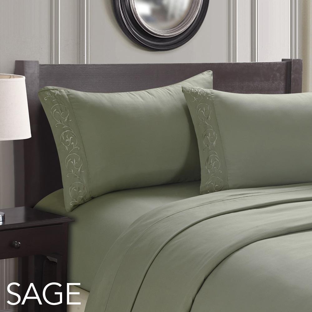 manhattan lights embroidered deep pocket bed sheet set in king and queen sizes ebay. Black Bedroom Furniture Sets. Home Design Ideas