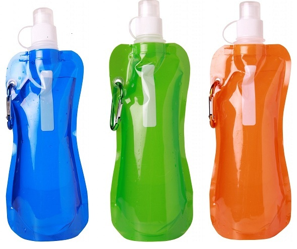 3-Pack Water Bottles with Carabiner Clip