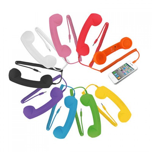 GearXS-Retro-Cell-Phone-Handset-Attachment-Choice-of-5-Colors