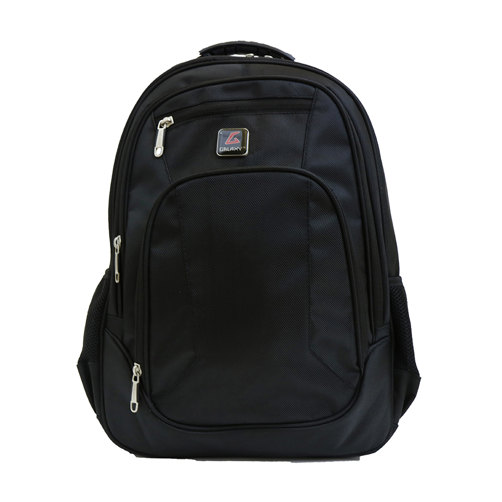 "Galaxy Men's 17"" Black Padded Laptop Backpack - Bookbag ..."